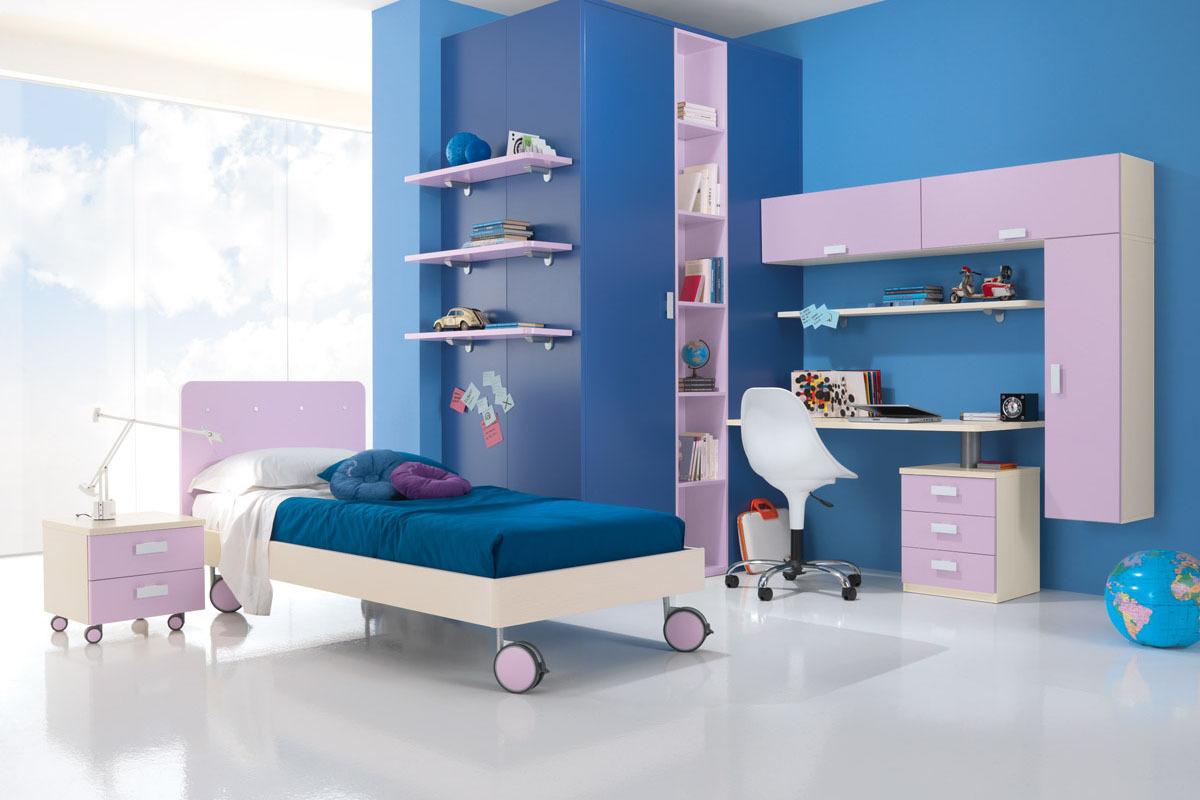 Cameretta Lilla E Arancione : Camerette blu. good amazing bello colori camerette mab cameretta